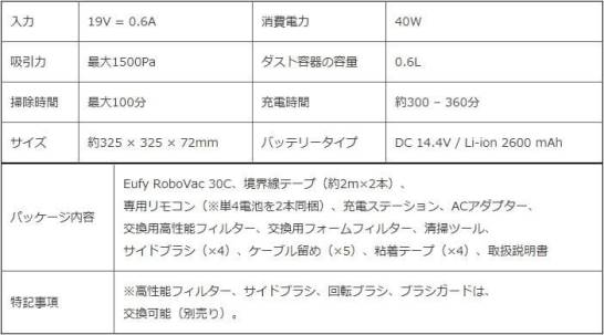 Eufy RoboVac 30C | 超薄型ロボット掃除機