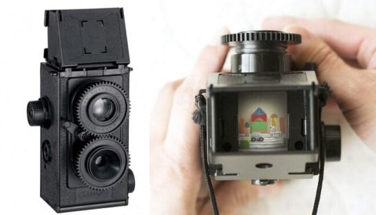 ▲カメラ完成品。上からファインダーをのぞいてピントを合わせます。