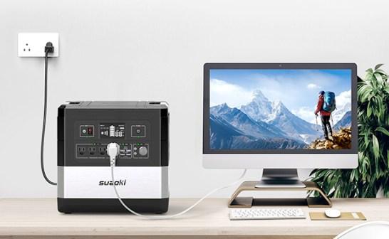 同時に12端末を充電可能・超大容量1182.72Wh・UPS搭載・10年耐久ポータブル電源suaoki「G1000」