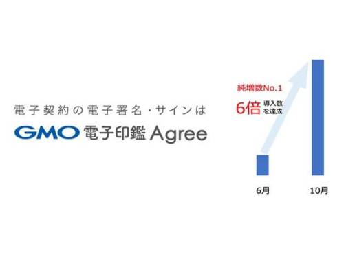 「GMO電子印鑑Agree」ご利用5万件突破!