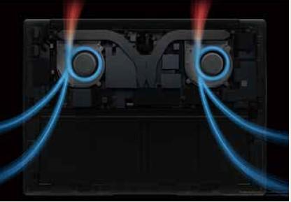 ハイパフォーマンスを支える冷却システム