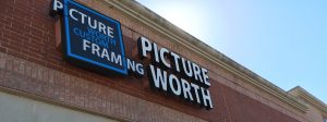 Spring Storefront, the headquarters of Picture Worth Custom Framing- Houston