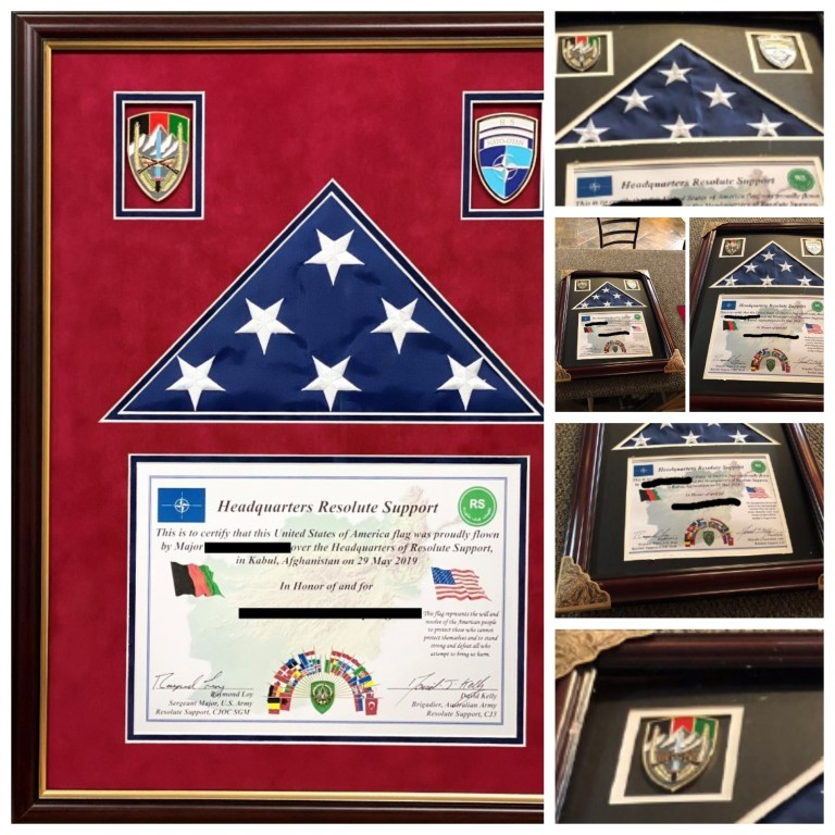 Picture Worth Custom Framing Before and After Military Plaque aabff6d