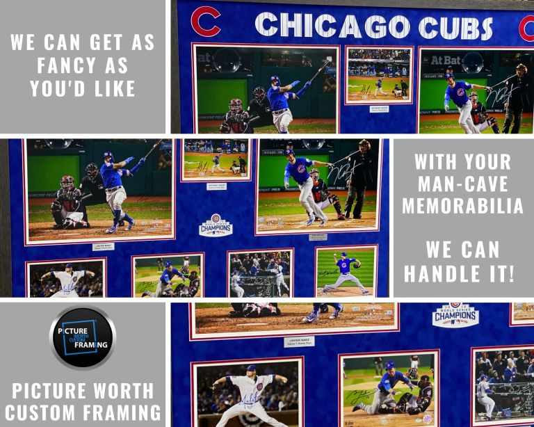Chicago Cubs 2016 World Series Championship Shadowbox