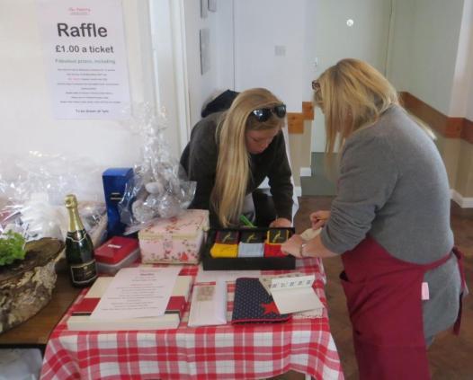 Organising the raffle