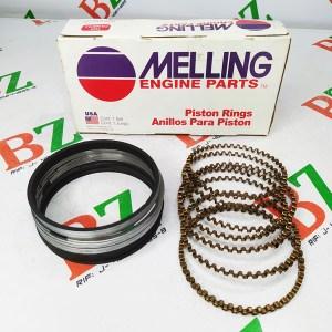 Juego de anillos Chevrolet marca Melling motor 350 medida 0.75 Cod m2m139