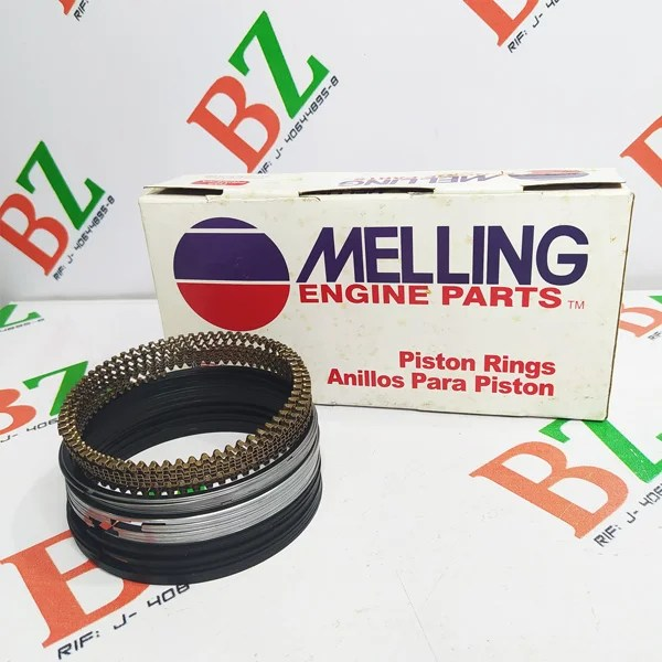 Juego de anillos Chevrolet modelo Silverado motor 5.3 marca Melling Cod 4978 medida 1.00