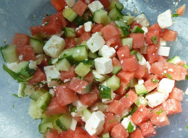 Melonen Schafskäse Salat