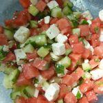 leckeres Rezept für Melonen-Schafskäse-Salat