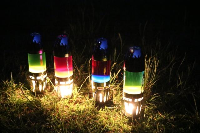 Lavalampen sorgen abends im Garten für die richtige Stimmung #mathmos