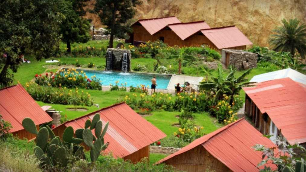 The hot springs you'll visit after the Colca Canyon Trek