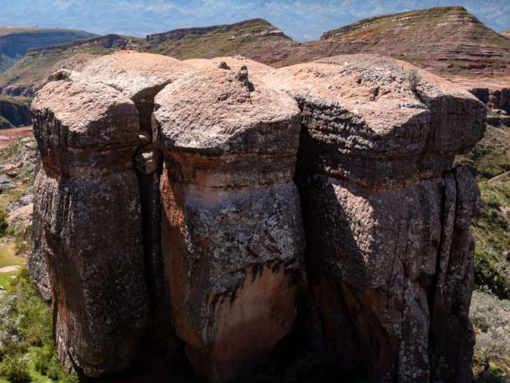 A huge and strange natural rock formation in Torotoro National Park, Bolivia