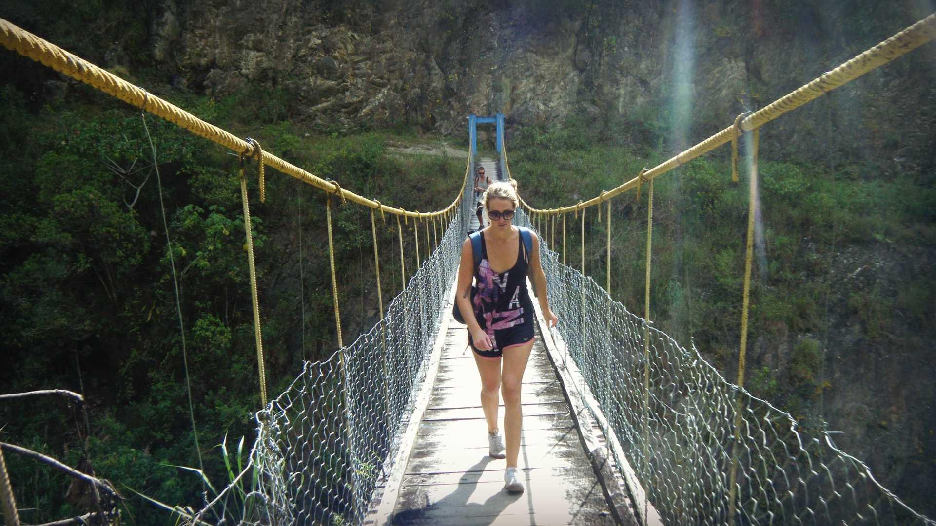 Woman Hiking Inca Jungle Trail