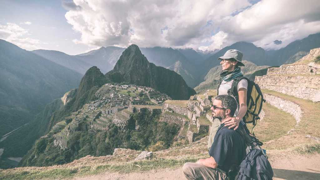 Classic Inca Trail Trek Machu Picchu - Couple at Machu Picchu