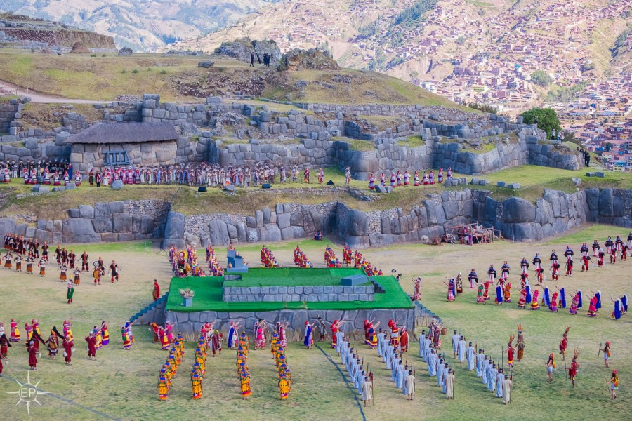 Inti Raymi festival - Hundreds of performers at Sacsayhuaman.
