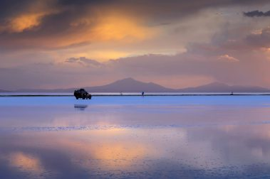 Salar de Uyuni is largest salt flat in the World, Altiplano, Bolivia