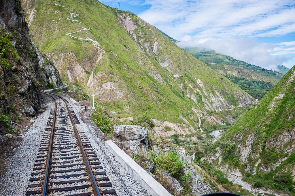 The Devil's Nose railway track - Ecuador vacation.