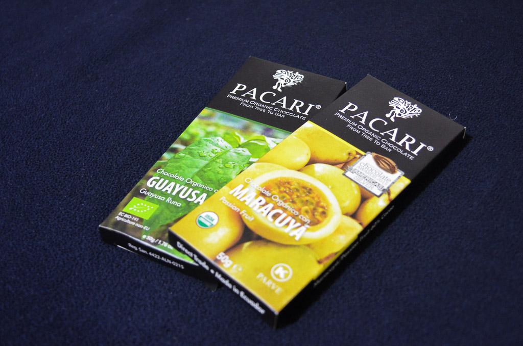 Chocolate blocks by award-winning Ecuadorian company Pacari.