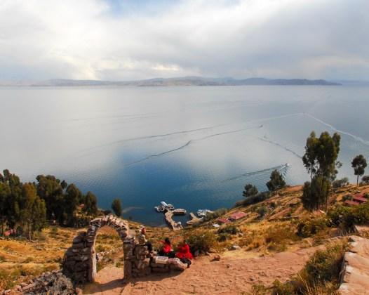 Scenery around Lake Titicaca in Peru, South America.