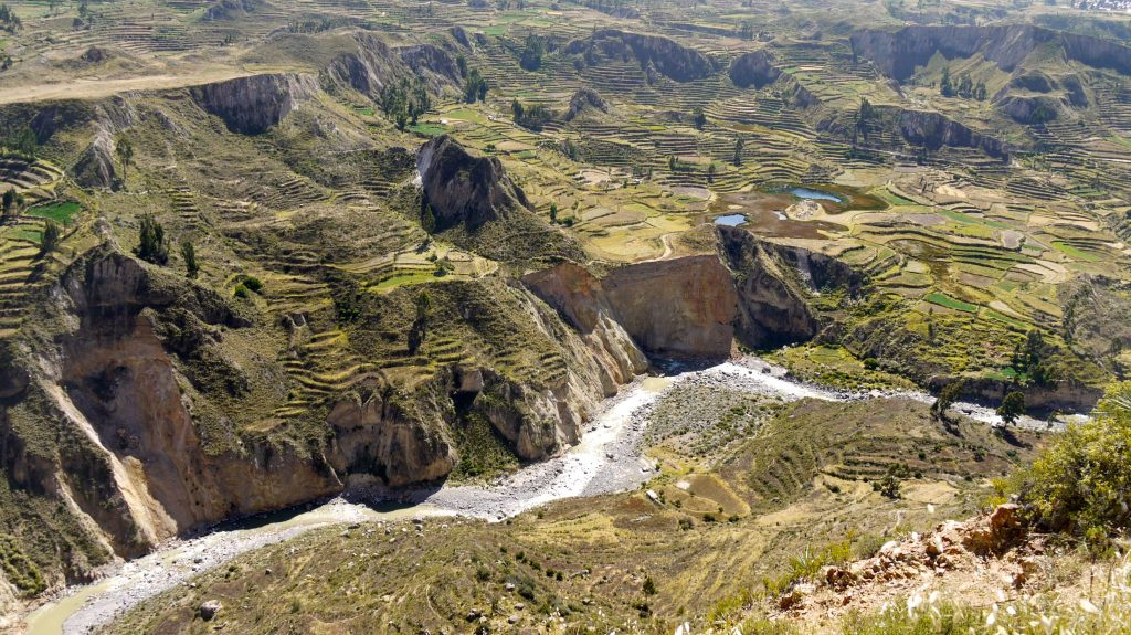 Arequipa Travel Guide - Pre-Inca terraces at Colca Valley