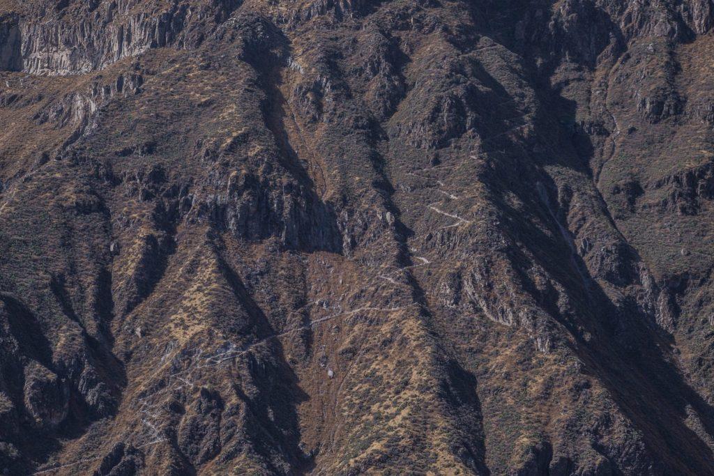 Colca Canyon trek - Jagged walls inside the canyon.