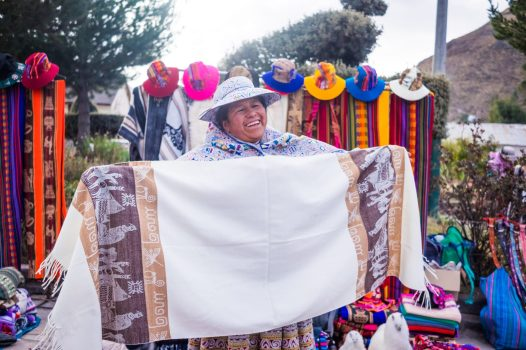 Homestay tours in Colca Canyon - Selling local wares in Yanque.