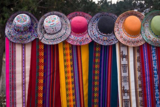 Homestay tours in Colca Canyon - Colouful hats at Yanque market.