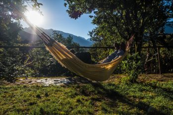 New Inca Trail to Machu Picchu, Carcel Trek - Cochapata Lodge hammock
