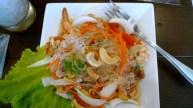 Glass noodle, pork, and cashew salad. Also shrimp!