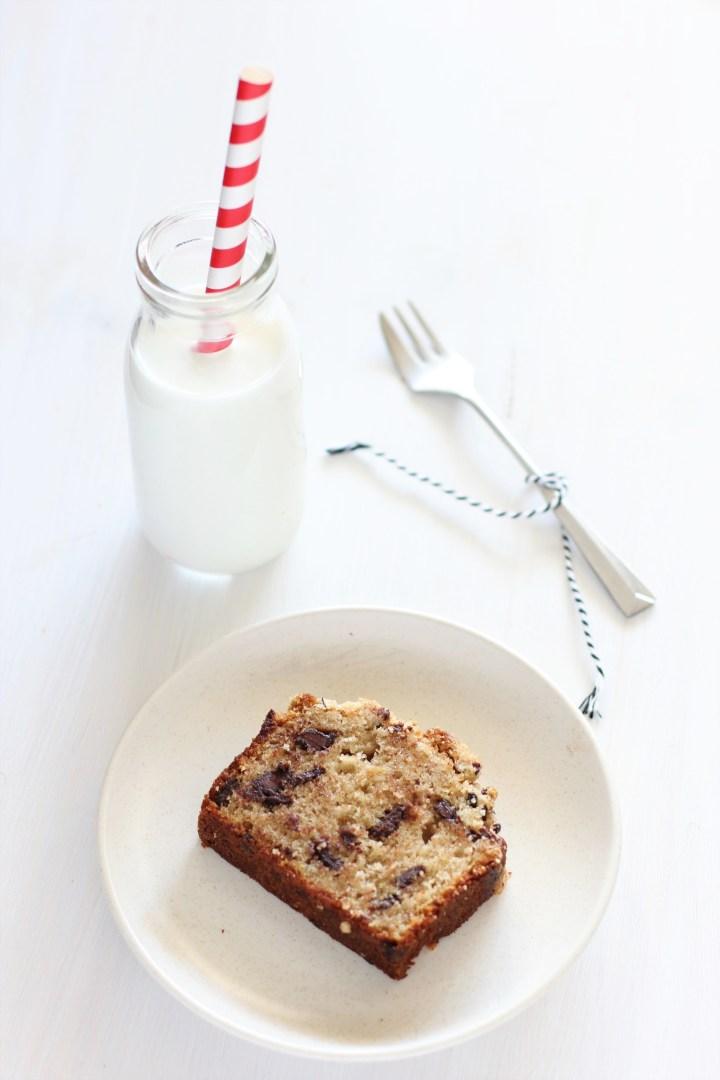 עוגת בננה, שקדים וקפה, עם שטרויזל פולי קקאו