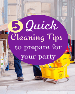 Party Cleaning Tips
