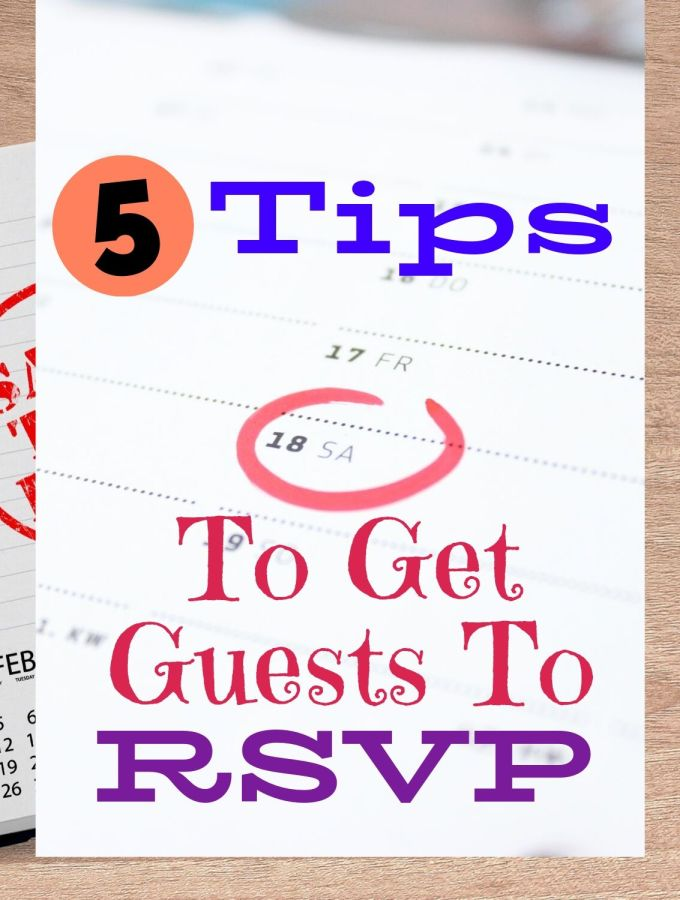 5 Tips to get your guests to RSVP with a calendar in the background and a date circled