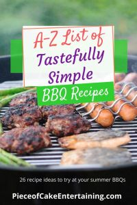 grill with burgers A-Z List of Tastefully Simple BBQ recipes