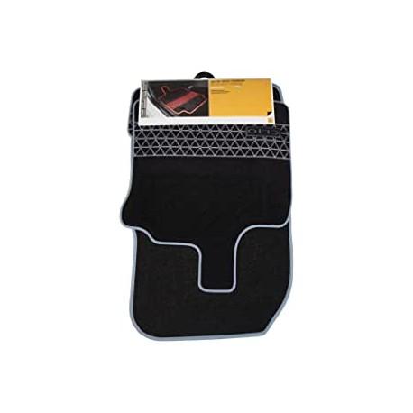 tapis de sol premium d origine renault pour renault clio iv 4 12 19 noir gris carbon textile 4 pieces autodc