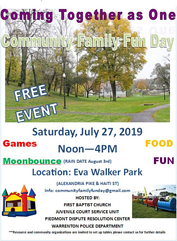 Community Fun Day 2019 - Piedmont Dispute Resolution Center