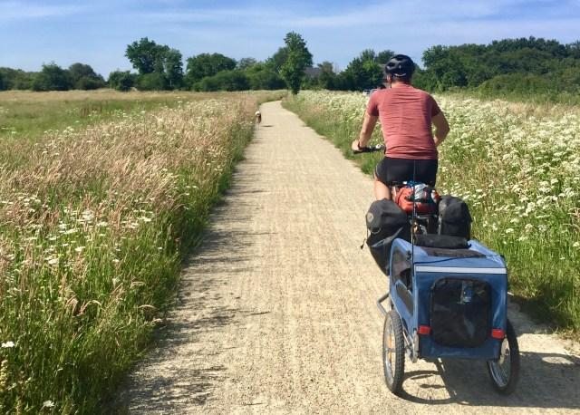 randonnée vélo a travers les marais salants du mes