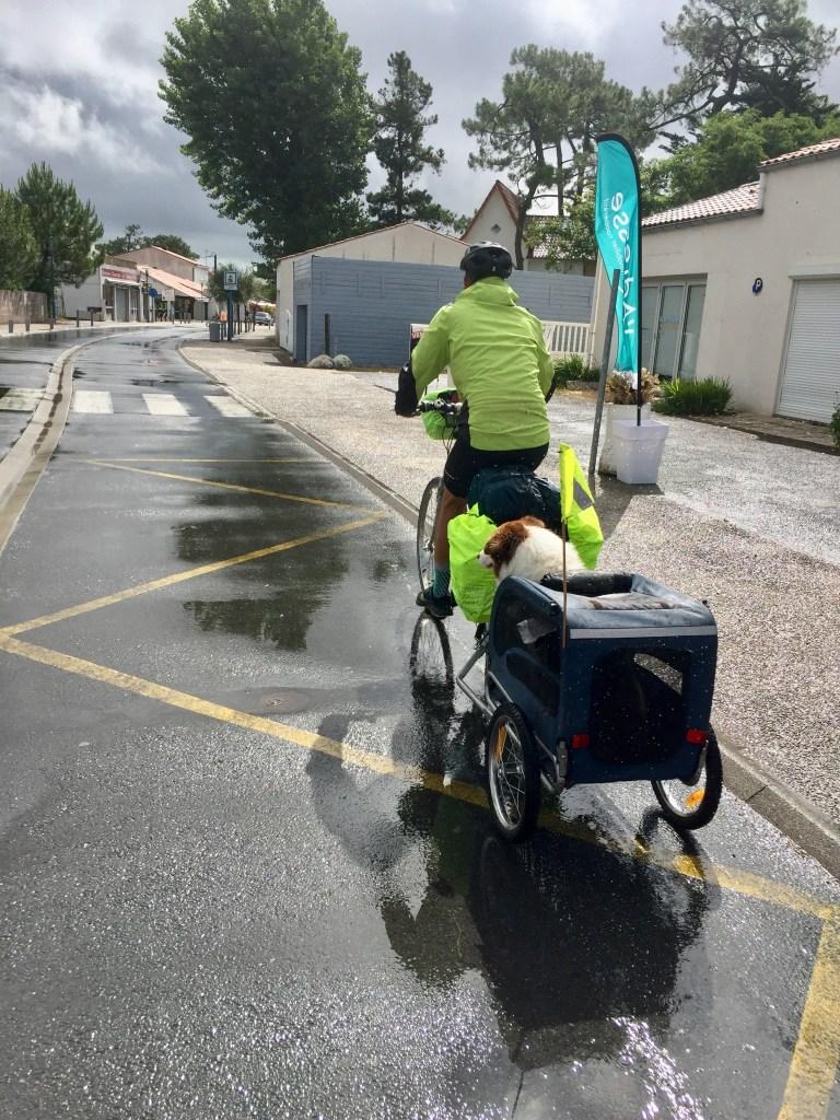 vélo sous la pluie vélodyssée