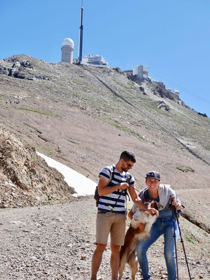 Pic du midi à pied avec son chien