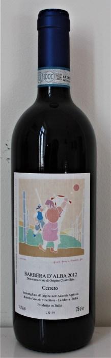 Wine of the Week Voerzio Barbera Cerreto