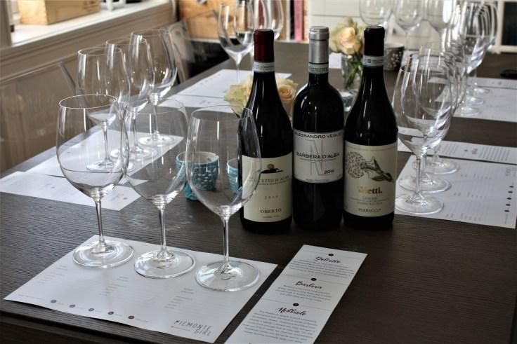 Piemontegirl tasting 2 Table