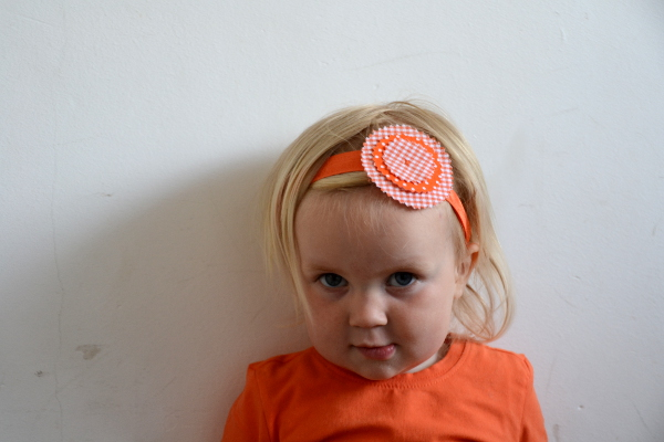 Flower Headband – All About Orange