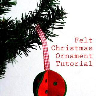 Felt Christmas Ornament Tutorial