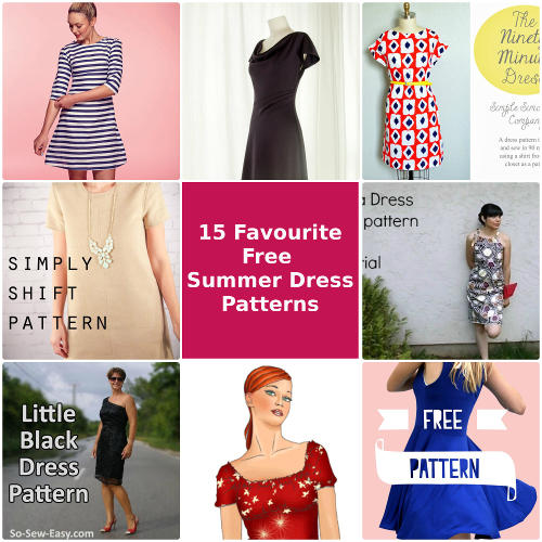 15 Best Free Summer Dress Patterns