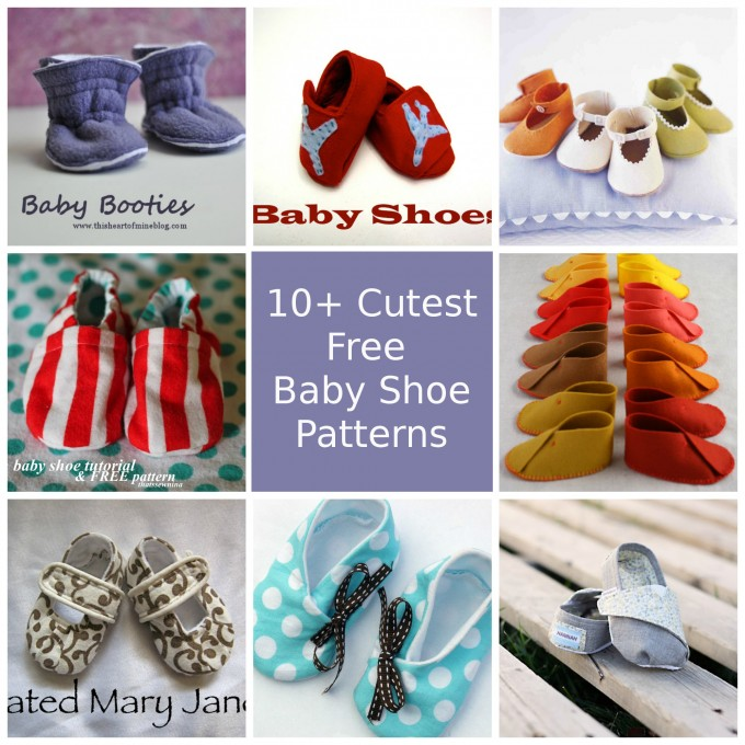 10+ Cutest free baby shoe patterns, collected by Pienkel