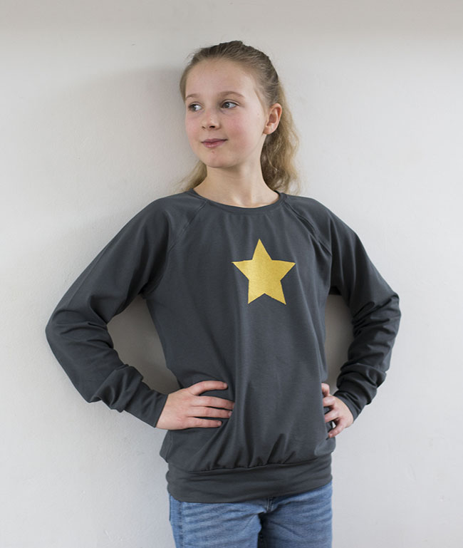 Gold Star Raglan Sweater