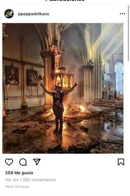 Periodista de The Times verificó información sobre iglesias incendiadas: Todo era falso