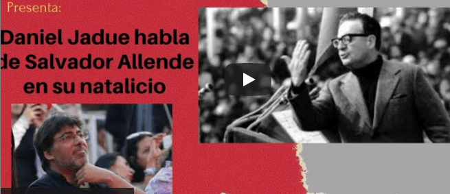 """Jadue: """"Aquí estamos para continuar el legado de Allende, del que me siento depositario"""""""