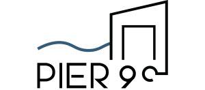 Das Logo des Pier 9 Tiny House Hotels