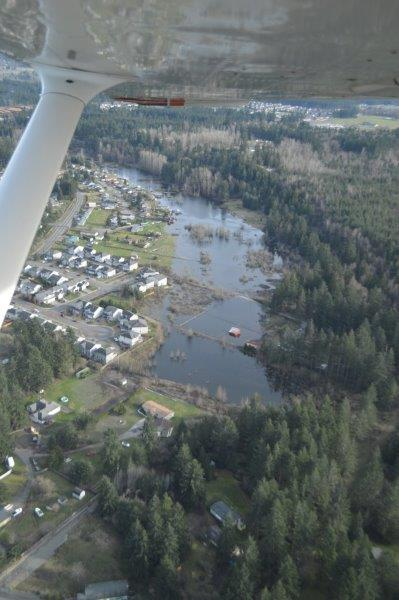 Aerial looking south from Pike's property