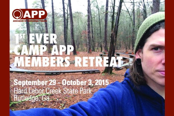 Camp APP : Members' Retreat - September 29th - October 3rd, Hard Labor Creek State Park, Rutledge GA Who can come: Business Members and Business Members at Large